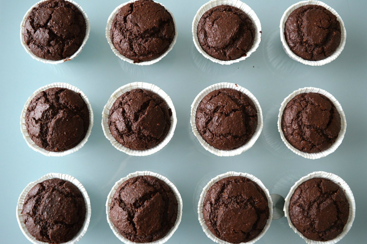 Image of gluten-free double chocolate banana muffins