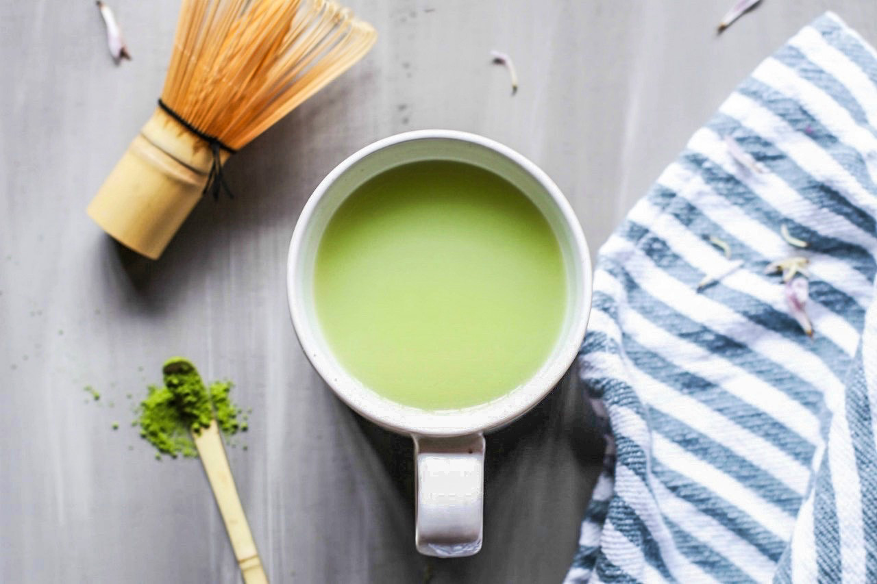 Image of a green tea matcha latte