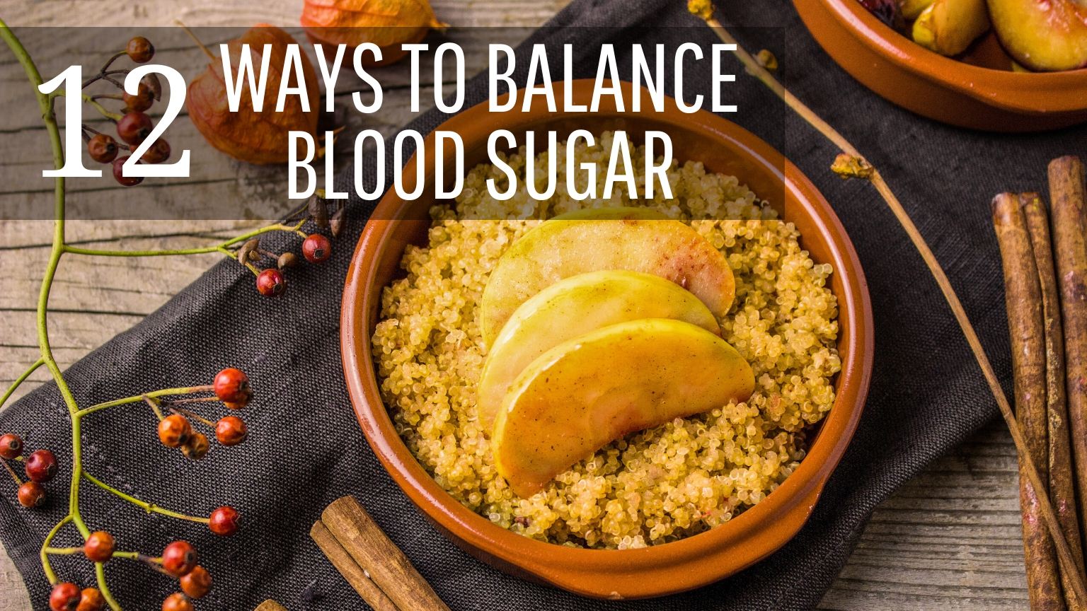 How To Balance Blood Sugar